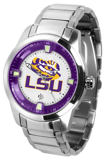 Louisiana State Tigers Men's Titan Stainless Steel Band Watch