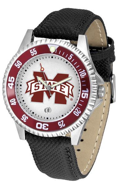 Mississippi State Bulldogs Competitor - Poly/Leather Band Watch-Watch-Suntime-Top Notch Gift Shop