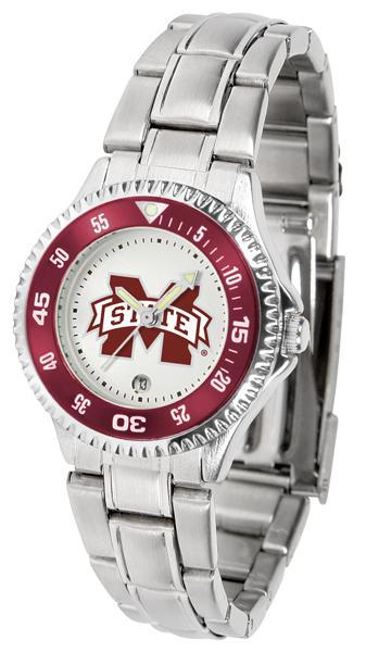 Mississippi State Bulldogs Ladies Competitor Steel Band Watch
