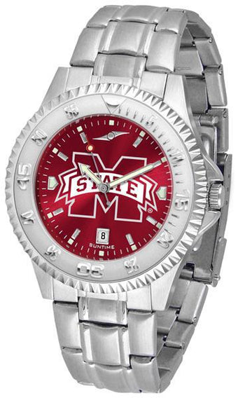 Mississippi State Bulldogs Competitor AnoChrome - Steel Band Watch