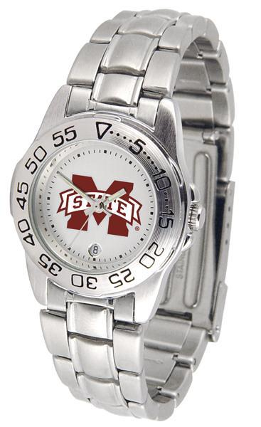 Mississippi State Bulldogs Ladies Steel Band Sports Watch-Watch-Suntime-Top Notch Gift Shop