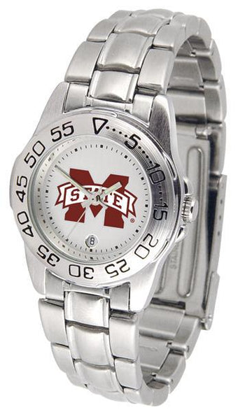 Mississippi State Bulldogs Ladies Steel Band Sports Watch