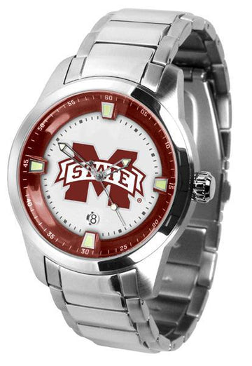 Mississippi State Bulldogs Men's Titan Stainless Steel Band Watch