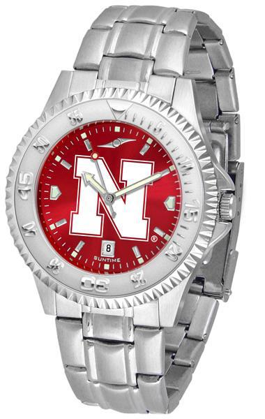 Nebraska Cornhuskers Competitor AnoChrome - Steel Band Watch-Watch-Suntime-Top Notch Gift Shop