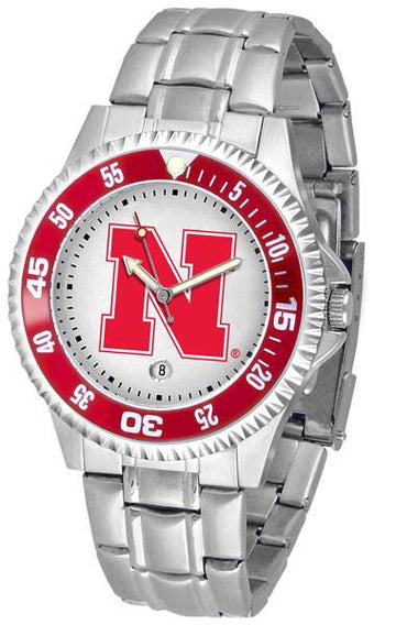 Nebraska Cornhuskers Competitor  - Steel Band Watch