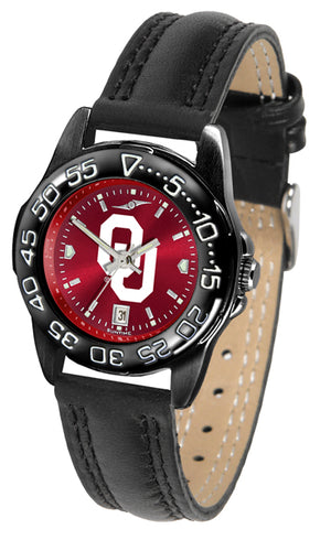 Oklahoma Sooners Ladies Fantom Bandit AnoChrome Watch-Watch-Suntime-Top Notch Gift Shop