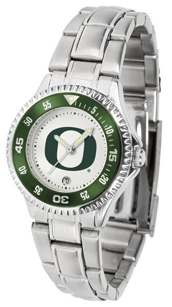 Oregon Ducks Ladies Competitor Steel Band Watch