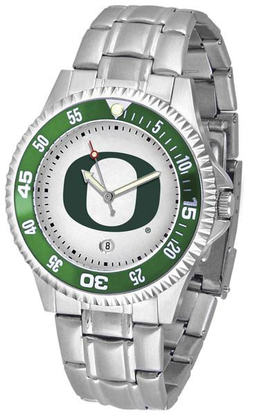 Oregon Ducks Mens Competitor AnoChrome Steel Band Watch w/ Colored Bezel-Watch-Suntime-Top Notch Gift Shop