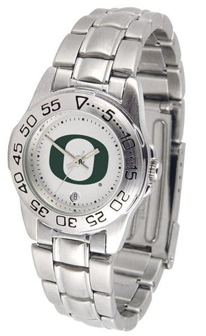 Oregon Ducks Ladies AnoChrome Steel Band Sports Watch-Watch-Suntime-Top Notch Gift Shop