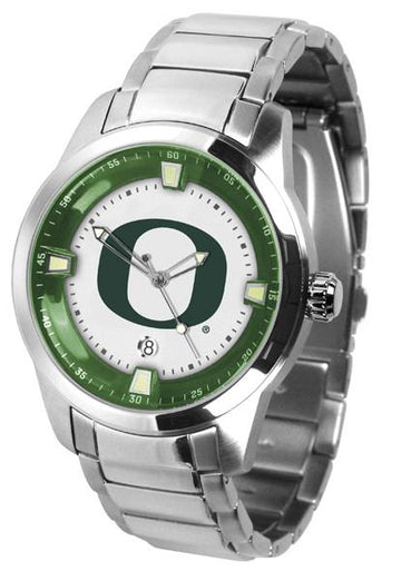 Oregon Ducks Men's Titan Stainless Steel Band Watch