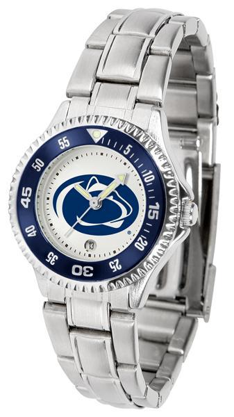 Penn State Nittany Lions Ladies Competitor Steel Band Watch