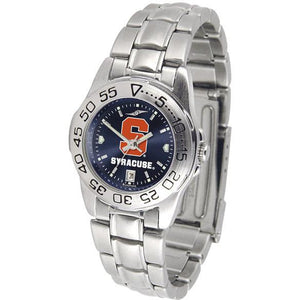 Syracuse Orange Ladies AnoChrome Steel Band Sports Watch-Watch-Suntime-Top Notch Gift Shop
