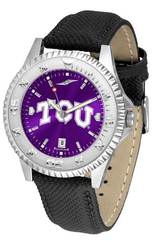 Texas Christian Horned Frogs Competitor AnoChrome Watch-Watch-Suntime-Top Notch Gift Shop