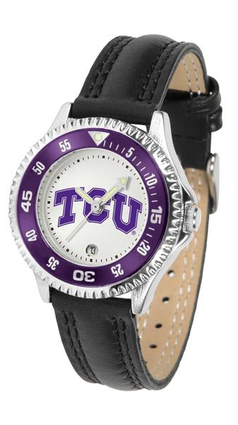 Texas Christian Horned Frogs Competitor - Poly/Leather Band Watch-Watch-Suntime-Top Notch Gift Shop
