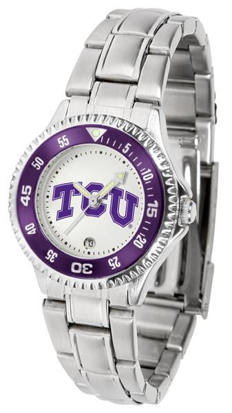 Texas Christian Horned Frogs Ladies Competitor Steel Band Watch