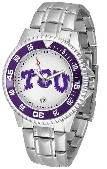 Texas Christian Horned Frogs Competitor  - Steel Band Watch