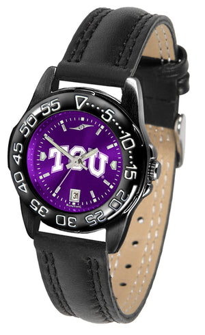 Texas Christian Horned Frogs Ladies Fantom Bandit AnoChrome Watch-Watch-Suntime-Top Notch Gift Shop