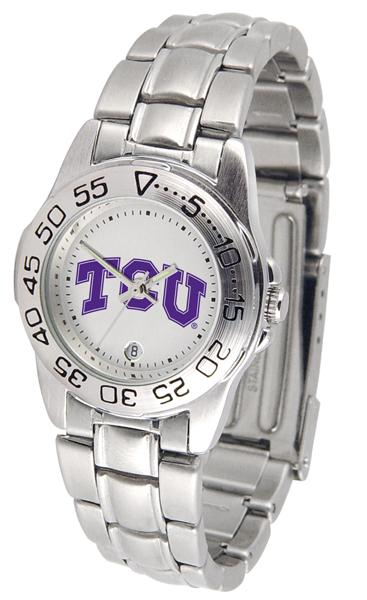 Texas Christian Horned Frogs Ladies Steel Band Sports Watch-Watch-Suntime-Top Notch Gift Shop