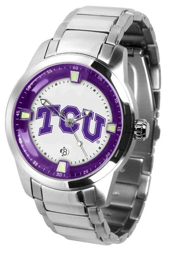 Texas Christian Horned Frogs Men's Titan Stainless Steel Band Watch
