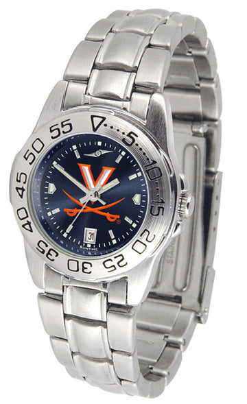 Virginia Cavaliers Ladies AnoChrome  Steel Band Sports Watch
