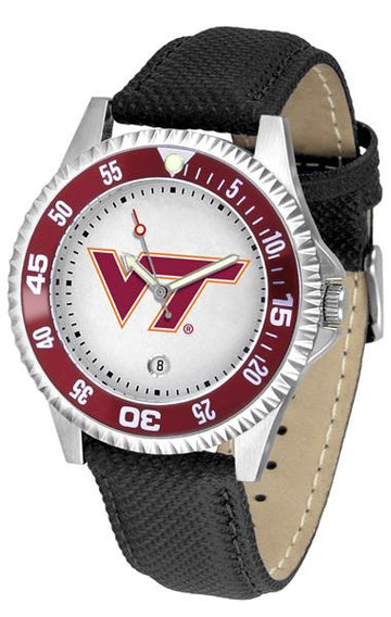 Virginia Tech Hokies Competitor - Poly/Leather Band Watch