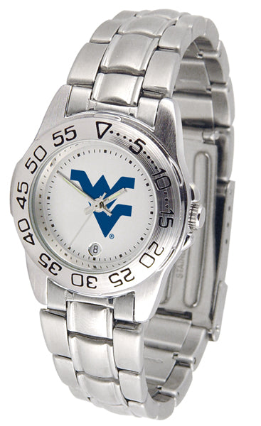 West Virginia Mountaineers Ladies Steel Band Sports Watch-Watch-Suntime-Top Notch Gift Shop