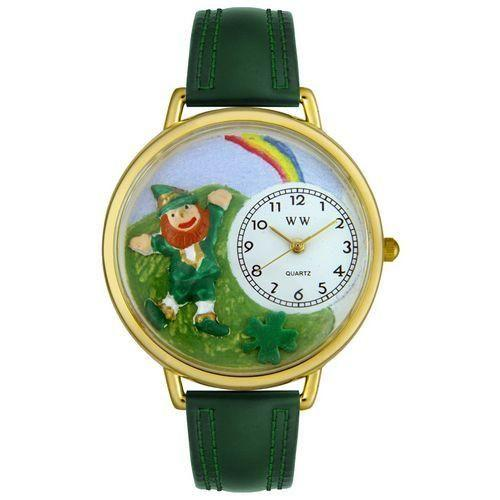 St. Patrick's Day Watch (Rainbow) in Gold (Large)-Watch-Whimsical Gifts-Top Notch Gift Shop