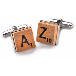 Sterling Silver Scrabble Cufflinks-Cufflinks-Tokens & Icons-Top Notch Gift Shop