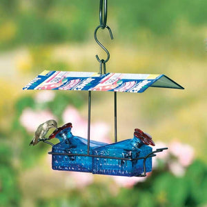 Sugar Shack 2 Perch Hummingbird Feeder-Bird Feeder-Parasol Gardens-Top Notch Gift Shop