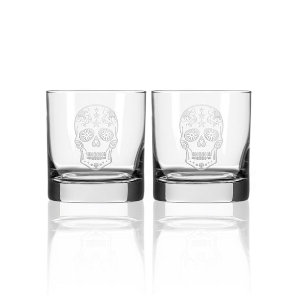 Sugar Skull 3 Piece Gift Set | Whiskey Decanter and Rocks Glasses-Decanter-Rolf Glass-Top Notch Gift Shop
