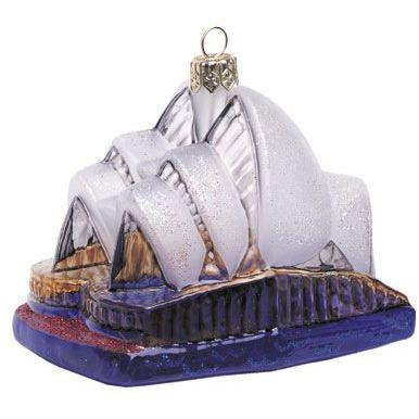 Sydney Opera House Blown Glass Christmas Ornament-Ornament-Landmark Creations-Top Notch Gift Shop