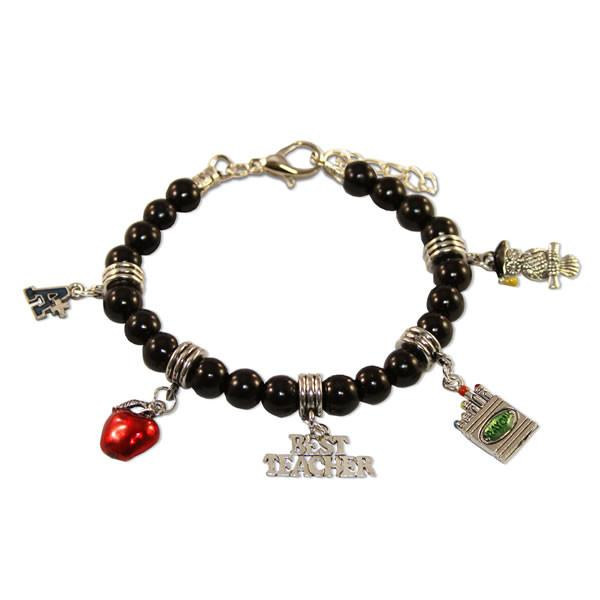 Teacher Charm Bracelet in Silver-Whimsical GiftsTop Notch Gift Shop