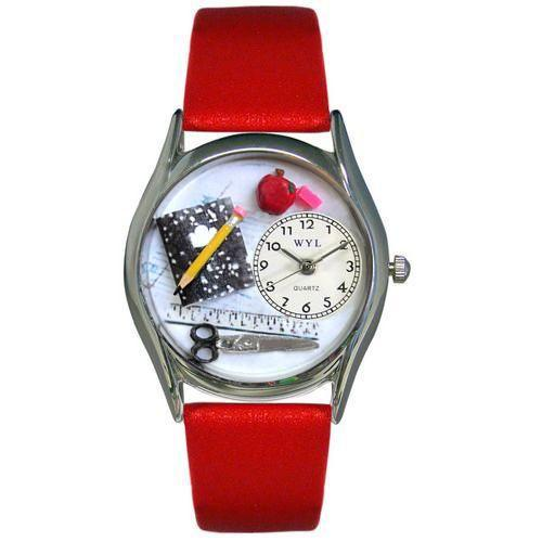 Teacher Watch Small Silver Style-Watch-Whimsical Gifts-Top Notch Gift Shop