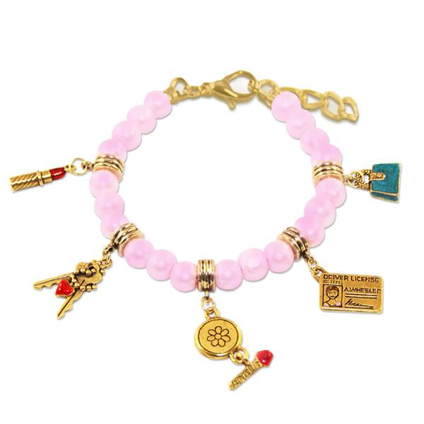 Teen Girl Charm Bracelet in Gold-Bracelet-Whimsical Gifts-Top Notch Gift Shop