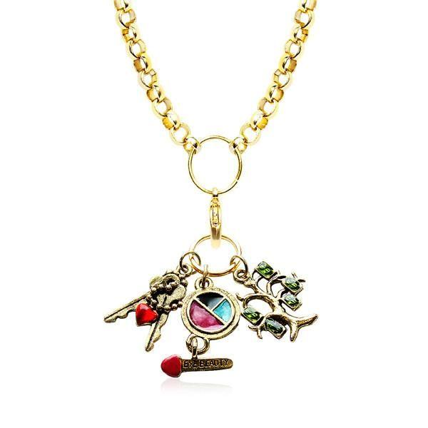 Teen Girl Charm Necklace in Gold-Necklace-Whimsical Gifts-Top Notch Gift Shop