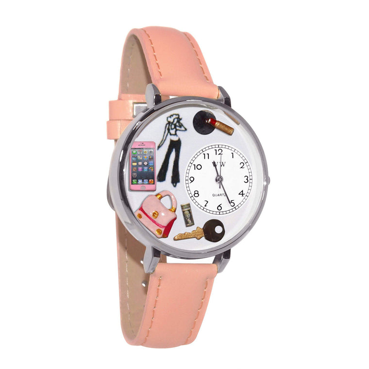 Teen Girl Watch in Silver (Large)-Whimsical GiftsTop Notch Gift Shop