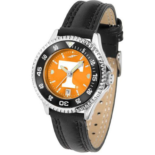 Tennessee Volunteers Ladies Competitor Ano Poly/Leather Band Watch w/ Colored Bezel-Watch-Suntime-Top Notch Gift Shop