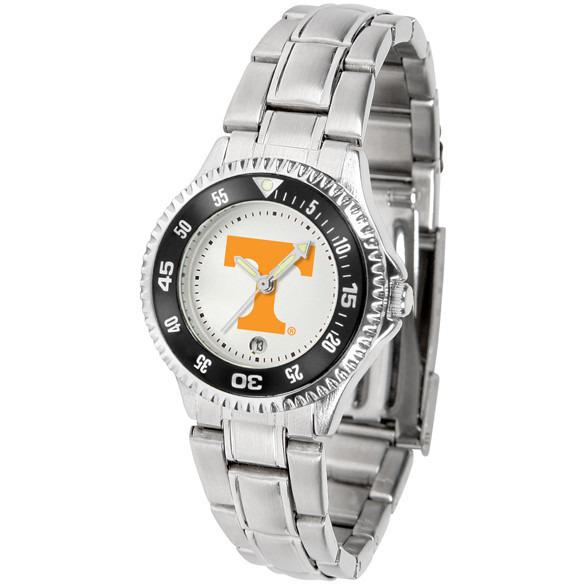Tennessee Volunteers Ladies Competitor Steel Band Watch-Watch-Suntime-Top Notch Gift Shop