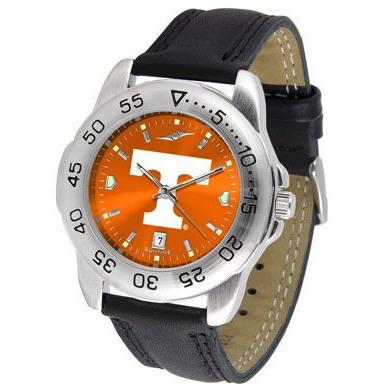 Tennessee Volunteers Mens AnoChrome Leather Band Sports Watch-Watch-Suntime-Top Notch Gift Shop