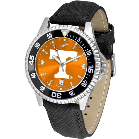 Tennessee Volunteers Mens Competitor Ano Poly/Leather Band Watch w/ Colored Bezel-Watch-Suntime-Top Notch Gift Shop
