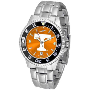 Tennessee Volunteers Mens Competitor AnoChrome Steel Band Watch w/ Colored Bezel-Watch-Suntime-Top Notch Gift Shop