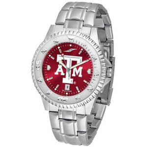 Texas A&M Aggies Competitor AnoChrome - Steel Band Watch-Watch-Suntime-Top Notch Gift Shop