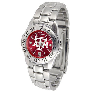 Texas A&M Aggies Ladies AnoChrome Steel Band Sports Watch-Watch-Suntime-Top Notch Gift Shop