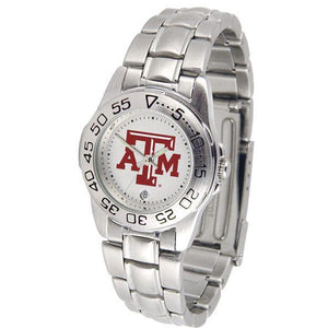 Texas A&M Aggies Ladies Steel Band Sports Watch-Watch-Suntime-Top Notch Gift Shop