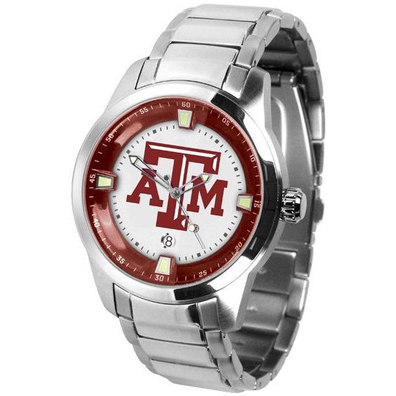 Texas A&M Aggies Men's Titan Stainless Steel Band Watch-Watch-Suntime-Top Notch Gift Shop