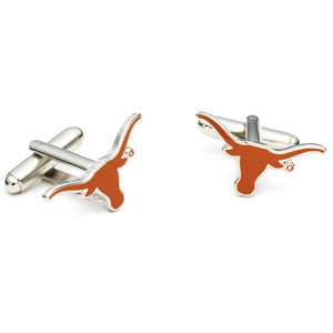 Texas Longhorns Enamel Cufflinks-Cufflinks-Cufflinks, Inc.-Top Notch Gift Shop