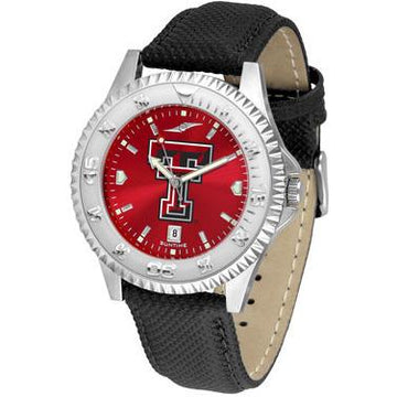 Texas Tech Red Raiders Competitor AnoChrome - Poly/Leather Band Watch