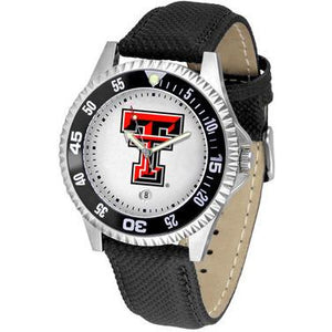 Texas Tech Red Raiders Competitor - Poly/Leather Band Watch-Watch-Suntime-Top Notch Gift Shop