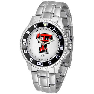 Texas Tech Red Raiders Competitor  - Steel Band Watch