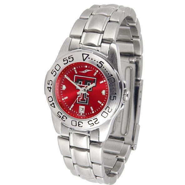 Texas Tech Red Raiders Ladies AnoChrome Steel Band Sports Watch-Watch-Suntime-Top Notch Gift Shop